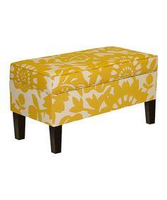 Sungold Gerber Upholstered Storage Bench
