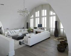 Een speciale raamsituatie in de vorm van een toog. Met shutters is het raam bedekt en is de hoeveelheid licht goed te regelen.