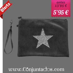 ¡super #oferta! -> Bolso de mano Star gris ★ ahora solo 5'95 € ★ Cómpralo en https://www.conjuntados.com/es/bolsos/bolsos-de-mano/bolso-de-mano-star-en-color-gris.html ★ #rebajas #sales #soldes #rabatte #rebaixes #deskontuak #vendas #sconti #bolso #bolsobandolera #bag #crossbodybag #conjuntados #conjuntada #lowcost #accesorios #complementos #moda #fashion
