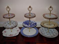 Vintage Musings Of A Modern Pinup: How To Make a 3 Tiered Cake Stand For Less Than $10 @Jess Liu Beam