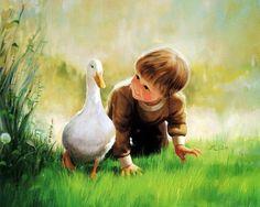 Потрясающие картины с детьми. Художник Donald Zolan