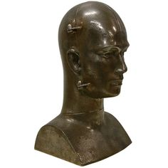 René Berthet Unique Cast Steel Bust Sculpture 1/1 | From a unique collection of antique and modern sculptures at http://www.1stdibs.com/more-furniture-collectibles/sculptures/