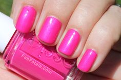 Essie bright pink nails