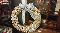Snowflake wreath, teacher Christmas gift.