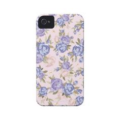 Floral Vintage Case iPhone 4 Case-Mate Case ($5.65) ❤ liked on Polyvore featuring accessories, tech accessories, phone cases, phone, iphone and case