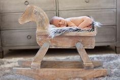 Sweet lil' guy sleeping in his RH Baby and Child rocking horse #rhbabyandchild #fallinlove