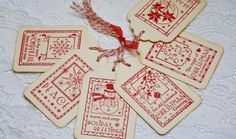 CHRISTMAS IN JULY Handmade Vintage Style Gift Tag - Christmas Images - wkburden $3.99