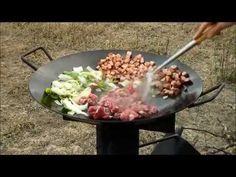 Discada on Rocket Stove - YouTube