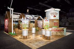 MG Design created a traveling barn-theme exhibit for Organic Valley that had solar panels and a motorized wind turbine to emphasize the food... Photo: Gary Michael Prochorchik/Exposures, Ltd.