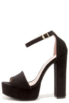 Chinese Laundry Avenue Black Suede Platform Heels at Lulus.com!