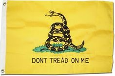 "Gadsden (Dont Tread on Me Flag) - 2' x 3' 2-Ply Polyester Flag by Flagline. $24.00. Canvas Header with Two Oversized 5/8"" Grommets. INTENDED FOR OUTDOOR USE!!!. Double Sided 600 Denier Flag. 2' x 3' Two Ply Polyester Flag. Appliqued and Embroidered. This double sided 2 ply polyester Gadsden flag represents new and improved flag fabric technology. Made of 100% spun polyester, its 2x2 ply construction combines durability, strength and flyability with a rich feel and look. Th..."