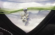 Silver Fairy Ribbon Necklace by ShadowRevolutions on Etsy