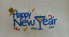 Happy New Year Cotton Huck Kitchen Towel by TheBridesHopeChest, $9.00