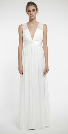 Harb Wedding dress by joanna august What a beautiful, simple and elegant wedding dress. Perfect for a destination wedding!