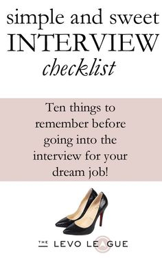 Interview Checklist by The Levo Le Gue