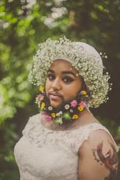 Flower Beard Bridals with Harnaam Kaur. What a woman, we love this girls attitude to life!