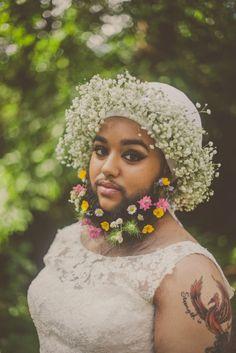 Harnaam Kaur bridal shoot lady beard (30)
