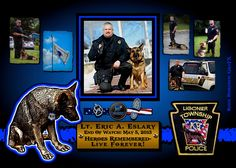 IN MEMORIAM: LIEUTENANT ERIC ESLARY Lieutenant Eric Eslary was killed in a vehicle collision. His patrol SUV was struck head-on by a van driving the wrong way on the divided highway. His canine partner suffered serious injuries and underwent surgery at an emergency animal hospital. The two occupants of the van were critically injured. Lieutanant Eslary served the Ligonier Township Police Department for seventeen years. He is survived by his wife and six children. Lieutanant Eric Eslary-gone, but Officer Down, Police Officer, Proud Of My Daughter, Fallen Officer, Police Lives Matter, The Line Of Duty, Police Life, Law Enforcement Officer, All Hero