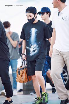 150731: EXO Xiumin (Kim Minseok); Incheon Airport to Chengdu Airport #exom #fashion #style #kpop