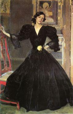 Señora de Sorolla (Clotilde García del Castillo, 1865–1929) in Black by Joaquín Sorolla y Bastida  (Spanish, Valencia 1863–1923 Cercedilla)