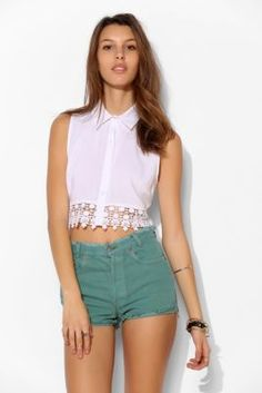 Urban Renewal Turn-Up Hem Denim Short