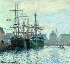 Le Bassin du Commerce, Le Havre oil on canvas by Claude Monet, 1840-1926,