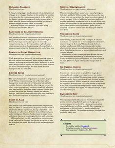 DnD 5e Homebrew — Non-Weapon Items by groggen2