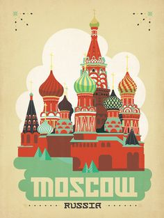 Trademark Art 'Moscow, Russia' by Anderson Design Group Framed Graphic Art Size: H x W, Matte Color: White City Poster, Poster Art, Kunst Poster, Wall Posters, Art Deco Posters, Poster Retro, Vintage Travel Posters, Illustrations Posters, Graphic Art