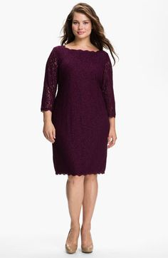 Adrianna Papell Lace Overlay Sheath Dress (Plus) available at #Nordstrom