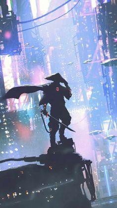 Cyber Samurai Warrior - IPhone Wallpapers