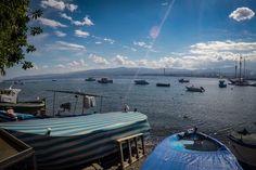 Милаццо / утро / набережная / море / небо / лодки  #Milazzo #italia #sicily #sea #travel #sky #morning #boat #fotoolgavolyanskaya