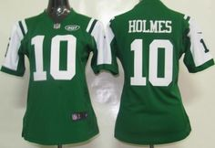 737c8c53d Women New York Jets #10 Santonio Holmes Nike Green Team Color Stitched NFL Game  Jersey