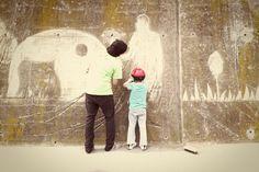 """El """"graffiti net"""" del @movimentr agrada a grans i a nens Graffiti, Painting, Art, Art Background, Painting Art, Kunst, Paintings, Performing Arts, Painted Canvas"""