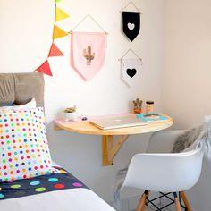 Home Decoration For Living Room Room Ideas Bedroom, Home Decor Bedroom, Desks For Small Spaces, Home Office Decor, Girl Room, Interior, Bedroom Organization, Organization Ideas, Media Consoles
