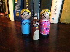 Charlie and Lola with bonus SIZZLES Peg Doll Set by TinyClementine, $20.00