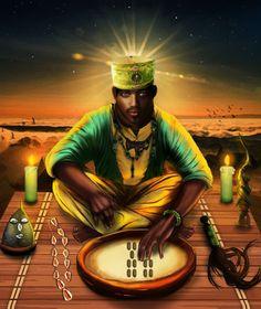 Orula💖 Ifa Religion, Yoruba Religion, African Culture, African History, African Art, Shango Orisha, Oshun Goddess, Yoruba Orishas, Egyptian Kings And Queens