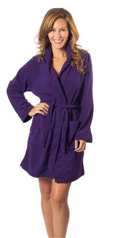 Fleece Bathrobe Purple Stuff 29c6269ee
