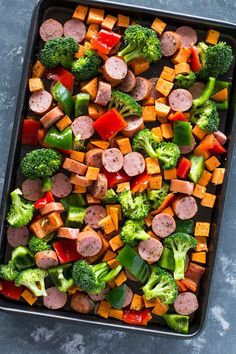 Roasted Sausage, Veggies and Quinoa Meal-Prep Recipe on Yummly. Yummly Roasted Sausage, Veggies and Quinoa Meal-Prep Recipe on Yummly. Healthy Cooking, Healthy Snacks, Healthy Eating, Healthy Recipes, Cooking Recipes, Meal Prep Recipes, Simple Healthy Meals, Healthy Lunch Ideas, Cheap Recipes