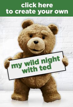 My Wild Night with Ted is proof bears DO have more fun. Create your wild night with Ted now! In Theaters Now http://www.mywildnightwithted.com/