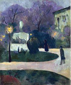 Vincent van Gogh — artist-serusier: Square with Street Lamp via.goodnight then Paul Gauguin, Van Gogh Pinturas, Maurice Utrillo, Art Français, Georges Seurat, Van Gogh Paintings, Impressionist Paintings, Street Lamp, Art Moderne