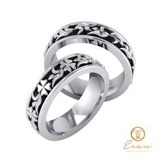 Verighete in aur alb cu design unic floral ESV23 Aur, Wedding Rings, Engagement Rings, Floral, Jewelry, Design, Enagement Rings, Jewlery, Jewerly
