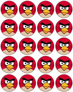 Angry Birds: Toppers, Stickers o Etiquetas Circulares para Imprimir Gratis. - Oh My Fiesta! Cumpleaños Angry Birds, Festa Angry Birds, Bird Birthday Parties, Birthday Tags, Crafts For Teens, Hobbies And Crafts, Angry Birt, Angry Birds Cupcakes, Bird Cake Toppers