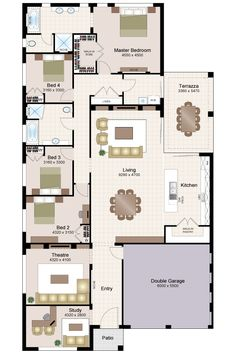 Sovereign Thirty - Beechwood Homes 4 Bedroom House Plans, Family House Plans, New House Plans, Dream House Plans, Small House Plans, House Floor Plans, Building Plans, Building A House, House Construction Plan