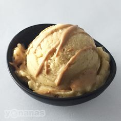 """2 frozen bananas + 2T of peanut butter = MAGIC. Alternate these two ingredients into your yonanas & enjoy dairy-free peanut butter banana """"ice-cream""""!"""