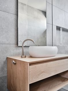 Loughlin Furniture Baxter Timber Vanity in American Oak. Collaboration with The Designory at Byron Bay. Minimalist Bathroom Furniture, Bathroom Furniture Design, Minimalist Bathroom Design, Wood Bathroom, Bathroom Renos, Minimalist Decor, Modern Bathroom, Small Bathroom, Bathroom Ideas