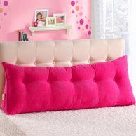 Sofa Bed Large Filled Triangular Wedge Cushion Bed Backrest Positioning Support Pillow Reading Pillow Office Lumbar Pad with Removable Cover Fushcia Queen Image 2 of 6 Pillow Headboard, Bed Pillows, Bolster Pillow, Headboards For Beds, Bunk Beds, Daybed, Sofa Bed, Bed Backrest, Bed Wedge Pillow