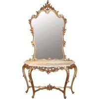 Gilt Console Table with Mirror