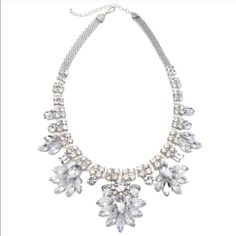 Silver Icing Necklace By t&j designs. Fun statement necklace!  Material: gold plated base metal, glass crystals, nickel free lead free. Photos by t&j designs. Made in China. T&J Designs Jewelry Necklaces