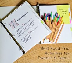 Road Trip Activity binders for tweens and teens #MFRoadTrip