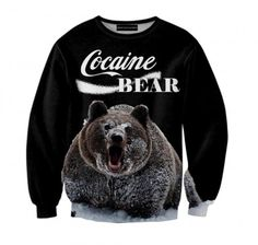Cocain Bear Sweatshirt Dream Killers Sweatshirt #sweatshirt #sweats #print #printed #streetwear #streetfashion #streetwear #brzozowskafashion #brzozowska #fashion #blvck #allblackeverything  #bluzy #bluza #biała #nadruk #autorski #odprojektanta #czarna #grafika